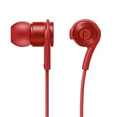 带电青年-入耳式立体声有线耳机D1(中国红)纸质彩盒装-国内版CN
