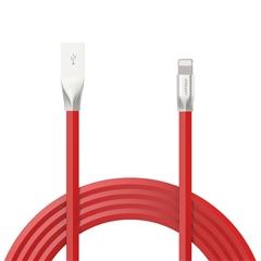 新版锌合金Lightning数据充电线(1200mm)(中国红)纸质彩盒装-国内版CN
