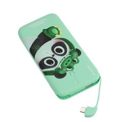 移动电源四喜丸子Ⅲ自带线充电宝U1(10000mAh)(浅豆绿)Lightning充电线 纸质手工盒
