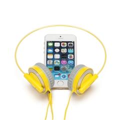 头戴式有线耳机HD101(柠檬黄)