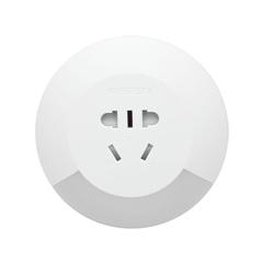 LED光控插座小夜灯(苹果白)