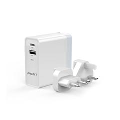品胜-USB+Type-C双口快速充电器(34W)(苹果白)