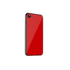 玻璃手机保护壳I7/I8(红色)牛皮盒装-国内版CN