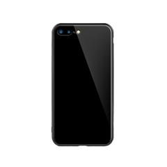 玻璃手机保护壳I7p/I8p(亮黑色)牛皮盒装-国内版CN