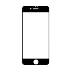 6D全屏覆盖防偷窥防爆玻璃贴膜I7p/I8p(黑色)单片牛皮盒装-国内版CN