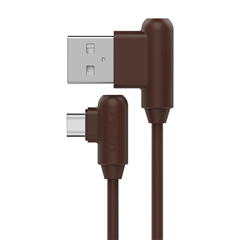 带电青年-USB Type-C(L头)数据充电线(1000mm)(摩卡棕)彩盒装-国内版CN