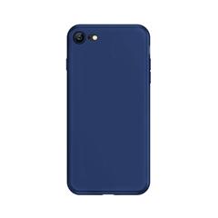 超薄磨砂手机保护壳I7/I8(深邃蓝)牛皮盒装-国内版CN